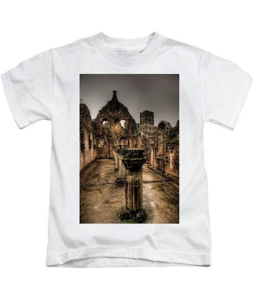 Fountains Abbey In Pouring Rain Kids T-Shirt