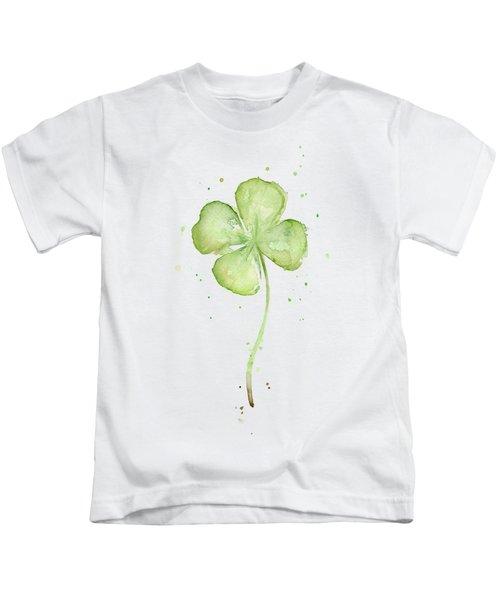 Four Leaf Clover Lucky Charm Kids T-Shirt