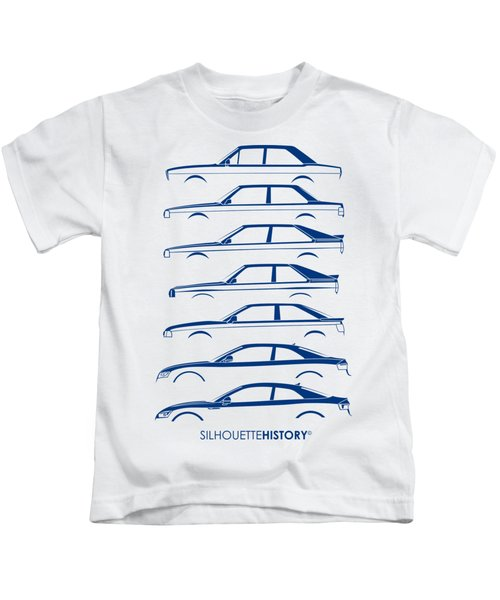 Four Ring Coupe Silhouettehistory Kids T-Shirt