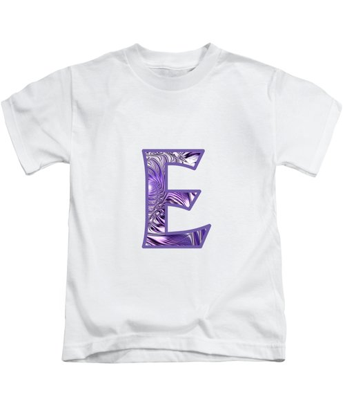 Fractal - Alphabet - E Is For Elegance Kids T-Shirt