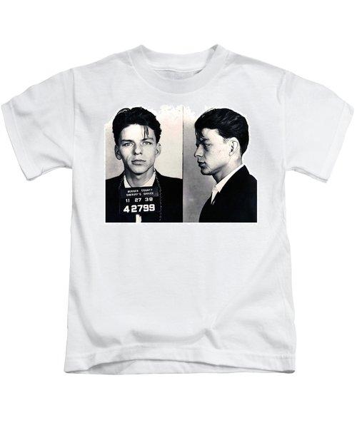 Frank Sinatra Mug Shot Horizontal Kids T-Shirt