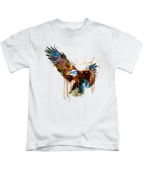 Free And Deadly Eagle Kids T-Shirt by Marian Voicu