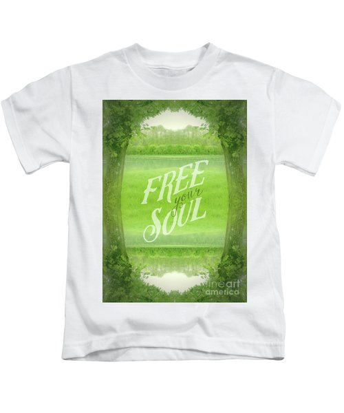 Free Your Soul Grand Canal Forest Fontainebleau Chateau Kids T-Shirt