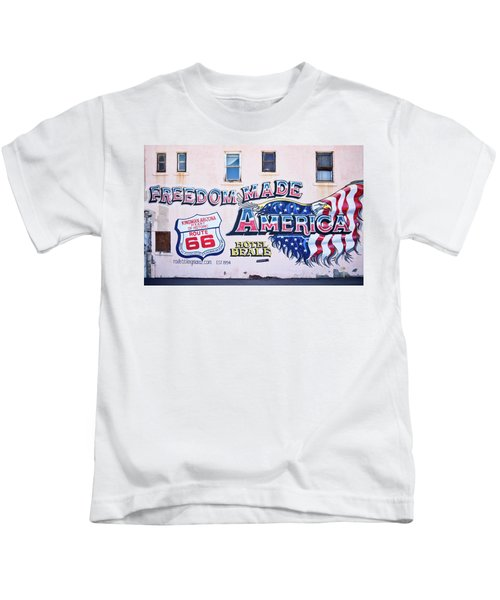 Freedom Made America - Mural Art On Route 66 Kids T-Shirt