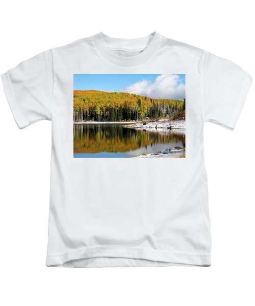 Freeman Lake In Northwest Colorado In The Fall Kids T-Shirt