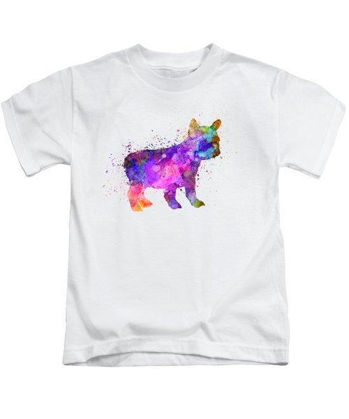 French Bulldog Puppy 01 In Watercolor Kids T-Shirt