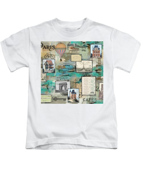 French Collage-c Kids T-Shirt