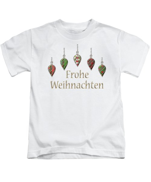 Frohe Weihnachten German Merry Christmas Kids T-Shirt