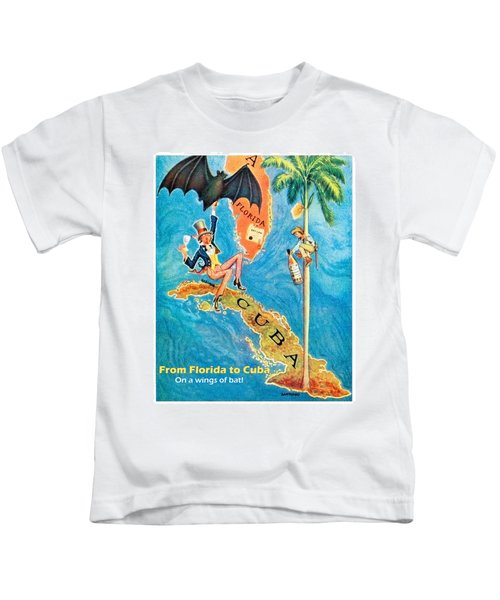 From Florida To Cuba On Wings Of Bat Kids T-Shirt