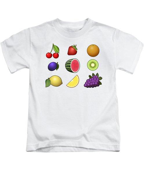 Fruits Collection Kids T-Shirt by Miroslav Nemecek