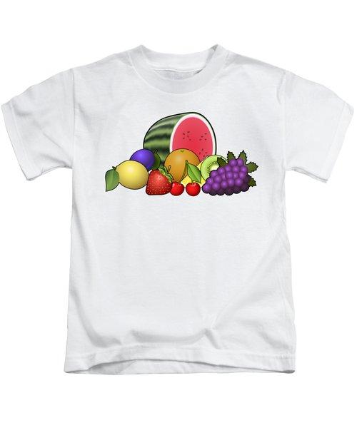 Fruits Heap Kids T-Shirt by Miroslav Nemecek