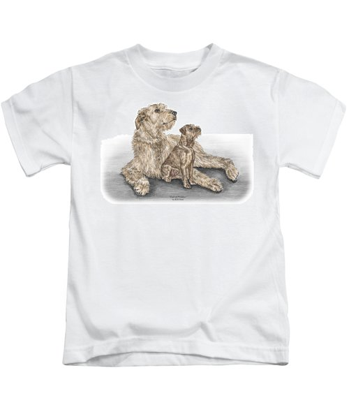 Full Of Promise - Irish Wolfhound Dog Print Color Tinted Kids T-Shirt