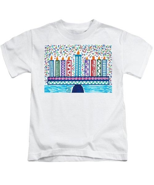 Funky Menorah  Kids T-Shirt