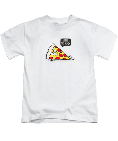 Funny And Cute Delicious Pizza Slice Wants Only You Kids T-Shirt