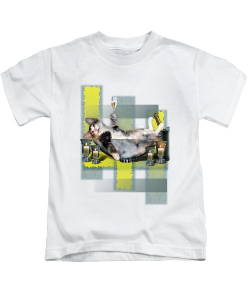 Funny Pet Print With A Tipsy Kitty  Kids T-Shirt