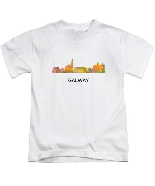 Galway Ireland Skyline Kids T-Shirt