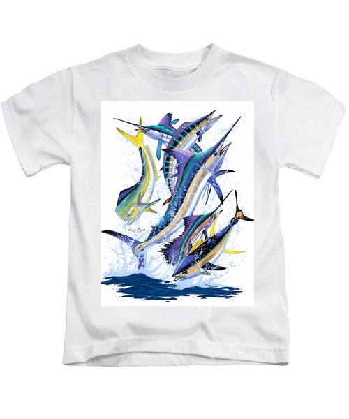 Gamefish Digital Kids T-Shirt by Carey Chen
