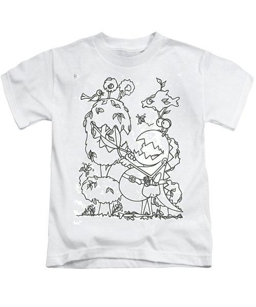 Gardening Monster Kids T-Shirt