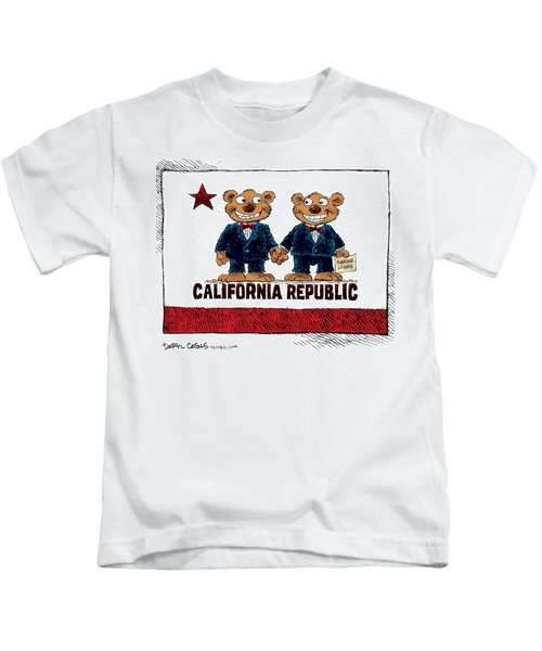 Gay Marriage In California Kids T-Shirt