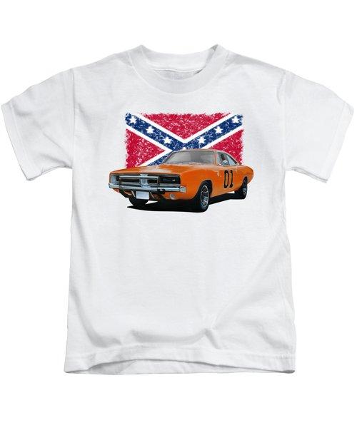 General Lee Rebel Kids T-Shirt