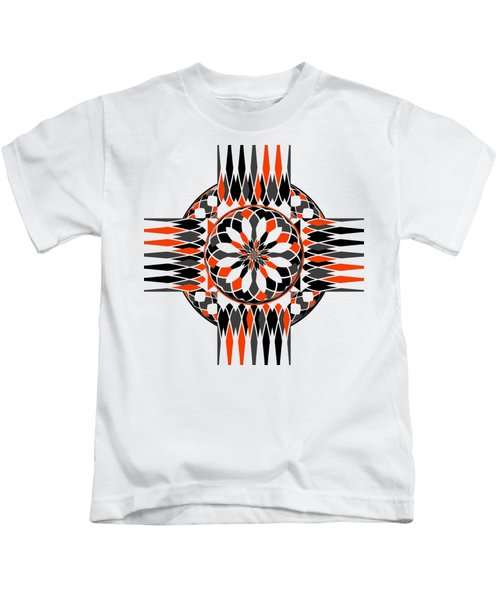 Geometric Celtic Cross Kids T-Shirt
