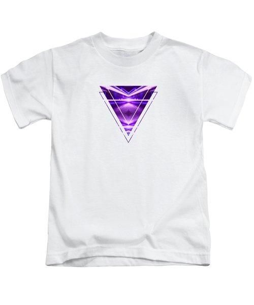 Geometric Street Night Light Pink Purple Neon Edition  Kids T-Shirt