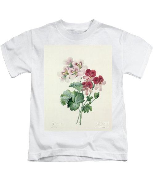 Geranium Variety Kids T-Shirt