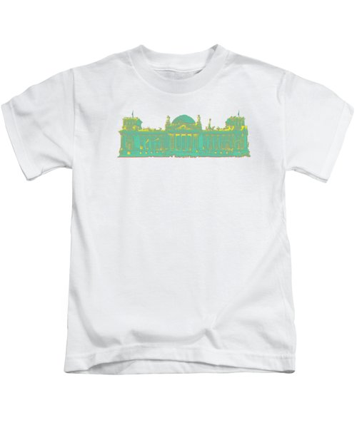 Germany Reichstag Dots Kids T-Shirt by Frank Hoven