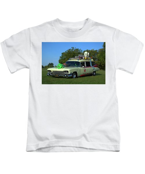 1959 Cadillac Ghostbusters Ambulance Replica Kids T-Shirt