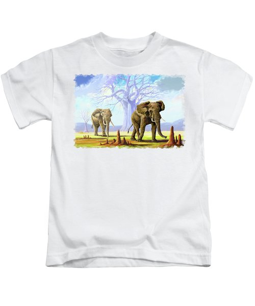 Giants And Little People Kids T-Shirt