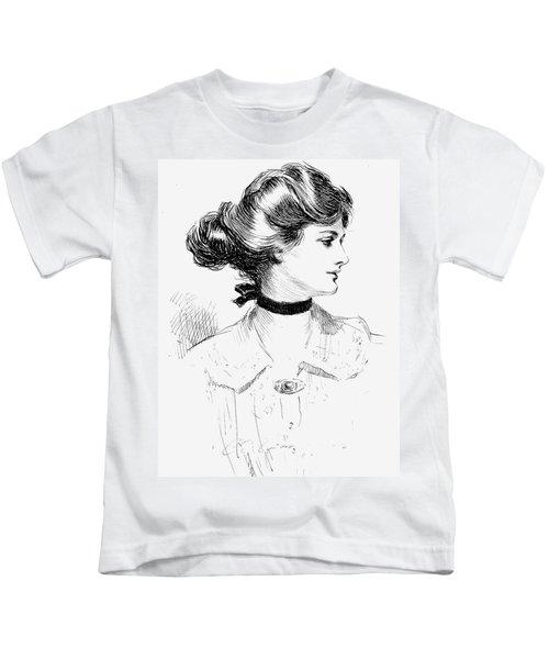 Gibson: Gibson Girl, 1905 Kids T-Shirt