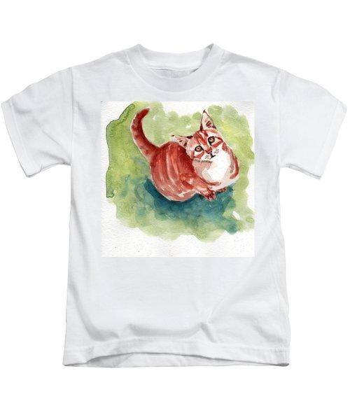 Ginger Tabby 8 Kids T-Shirt