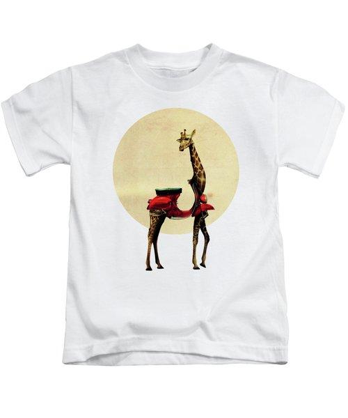 Giraffe Kids T-Shirt by Ali Gulec