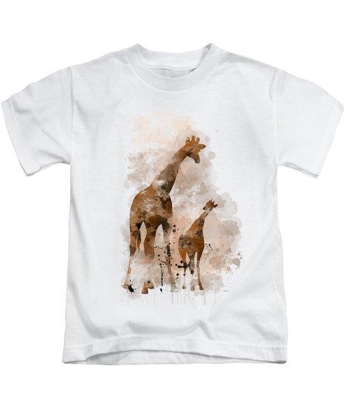 Giraffe And Baby Kids T-Shirt