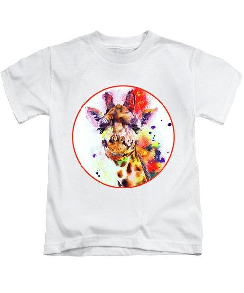 Giraffe Kids T-Shirt by Isabel Salvador
