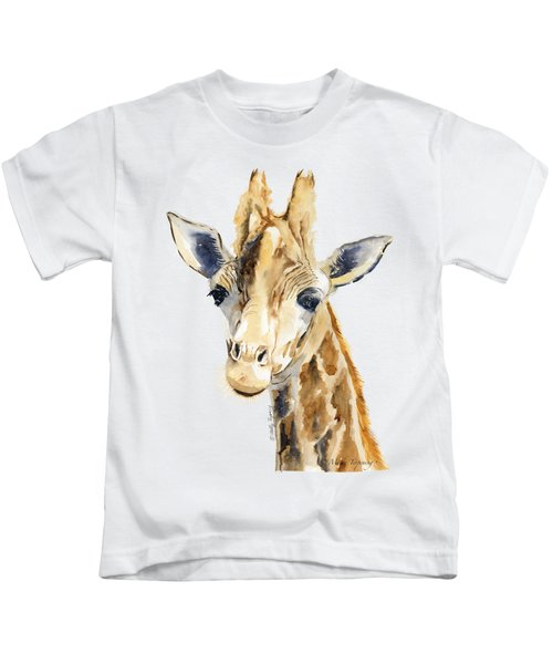 Giraffe Watercolor Kids T-Shirt
