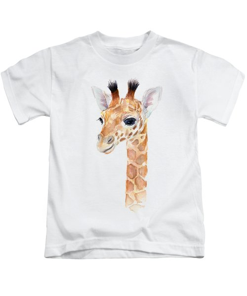 Giraffe Watercolor Kids T-Shirt
