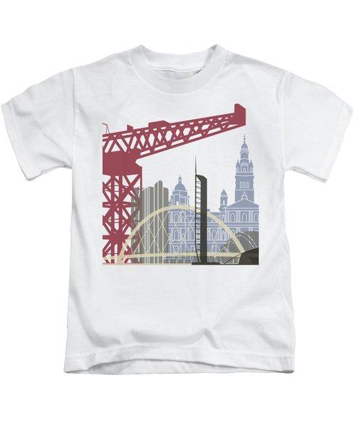 Glasgow Skyline Poster Kids T-Shirt