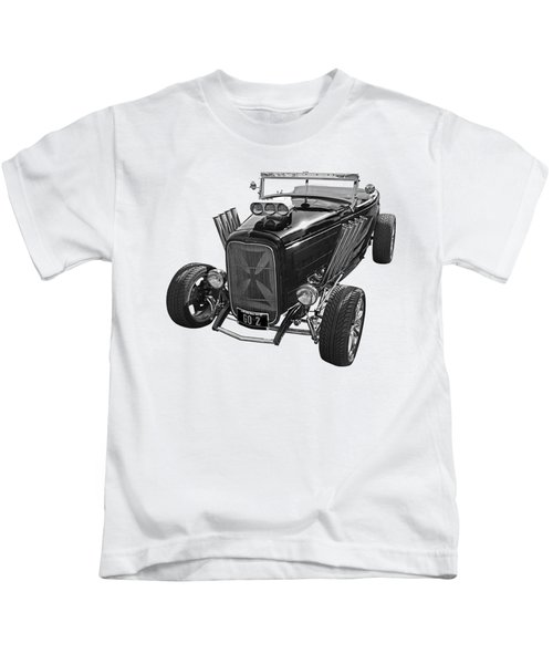 Go Hot Rod In Black And White Kids T-Shirt