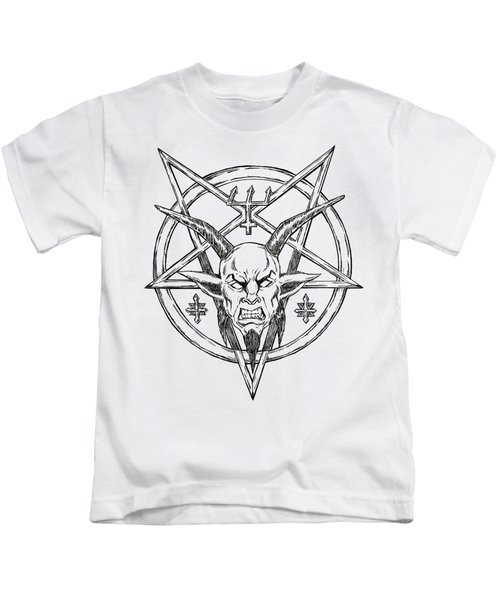 Goatlord Logo Kids T-Shirt by Alaric Barca