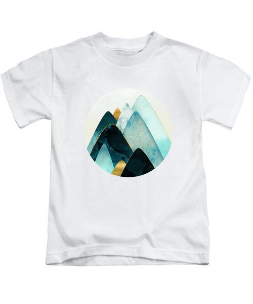 Gold And Blue Hills Kids T-Shirt