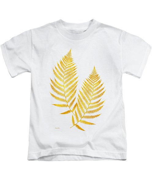 Gold Fern Leaf Art Kids T-Shirt