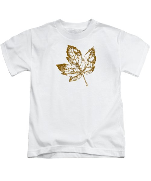 Gold Leaf Kids T-Shirt