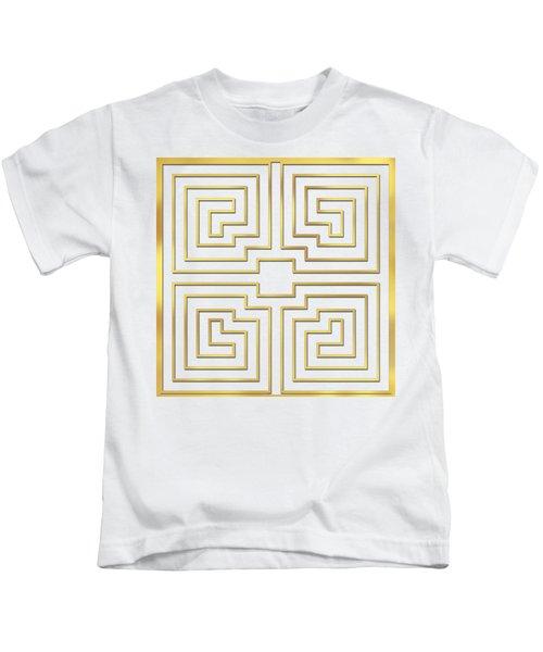 Gold Stripes Transparent Kids T-Shirt