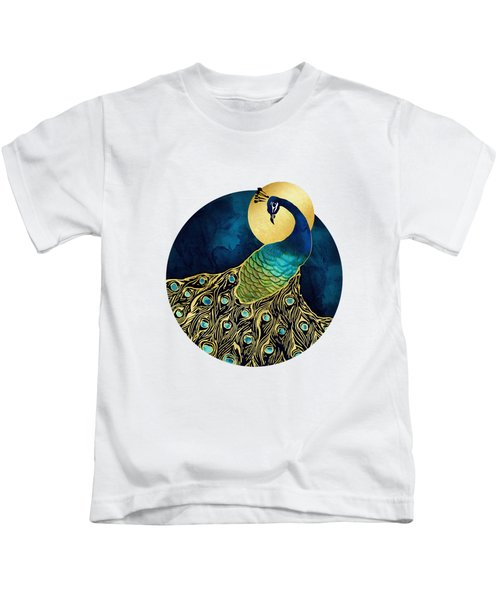 Golden Peacock Kids T-Shirt