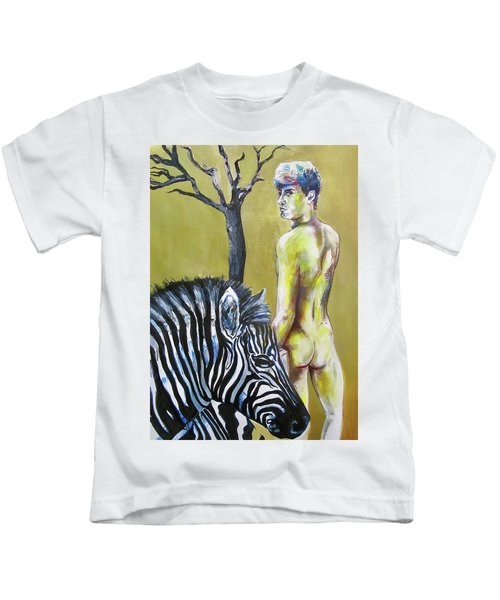 Golden Zebra High Noon Kids T-Shirt