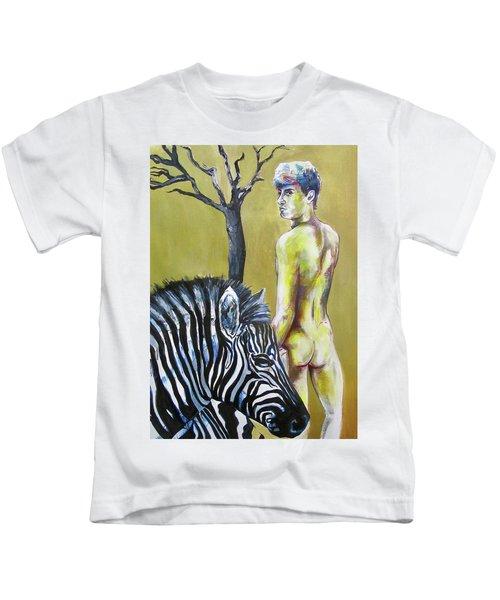 Golden Zebra High Noon Kids T-Shirt