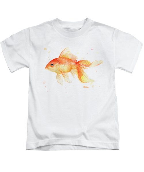 Goldfish Painting Watercolor Kids T-Shirt