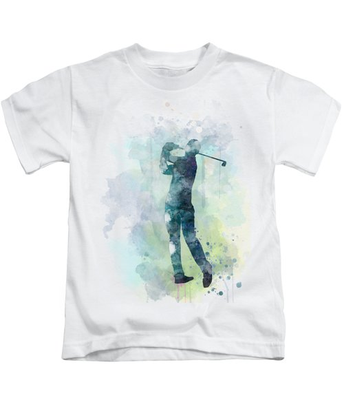 Golf Player  Kids T-Shirt by Marlene Watson