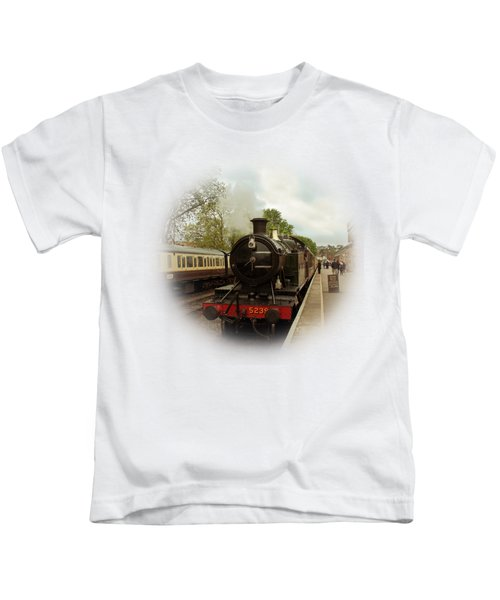 Goliath The Engine And Anna On Transparent Background Kids T-Shirt by Terri Waters